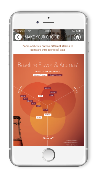 Application mobile Fermentis for wine and beer