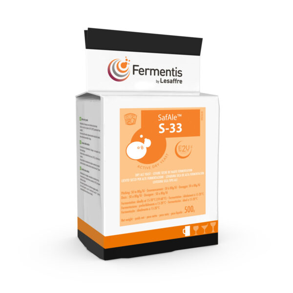 SafAle S-33 active dry yeast for brewers by Fermentis