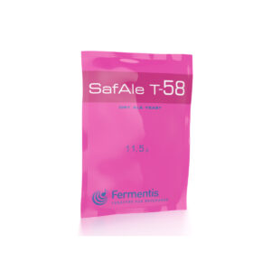 SafAle T-58 action dry beer yeast by fermentis packshot