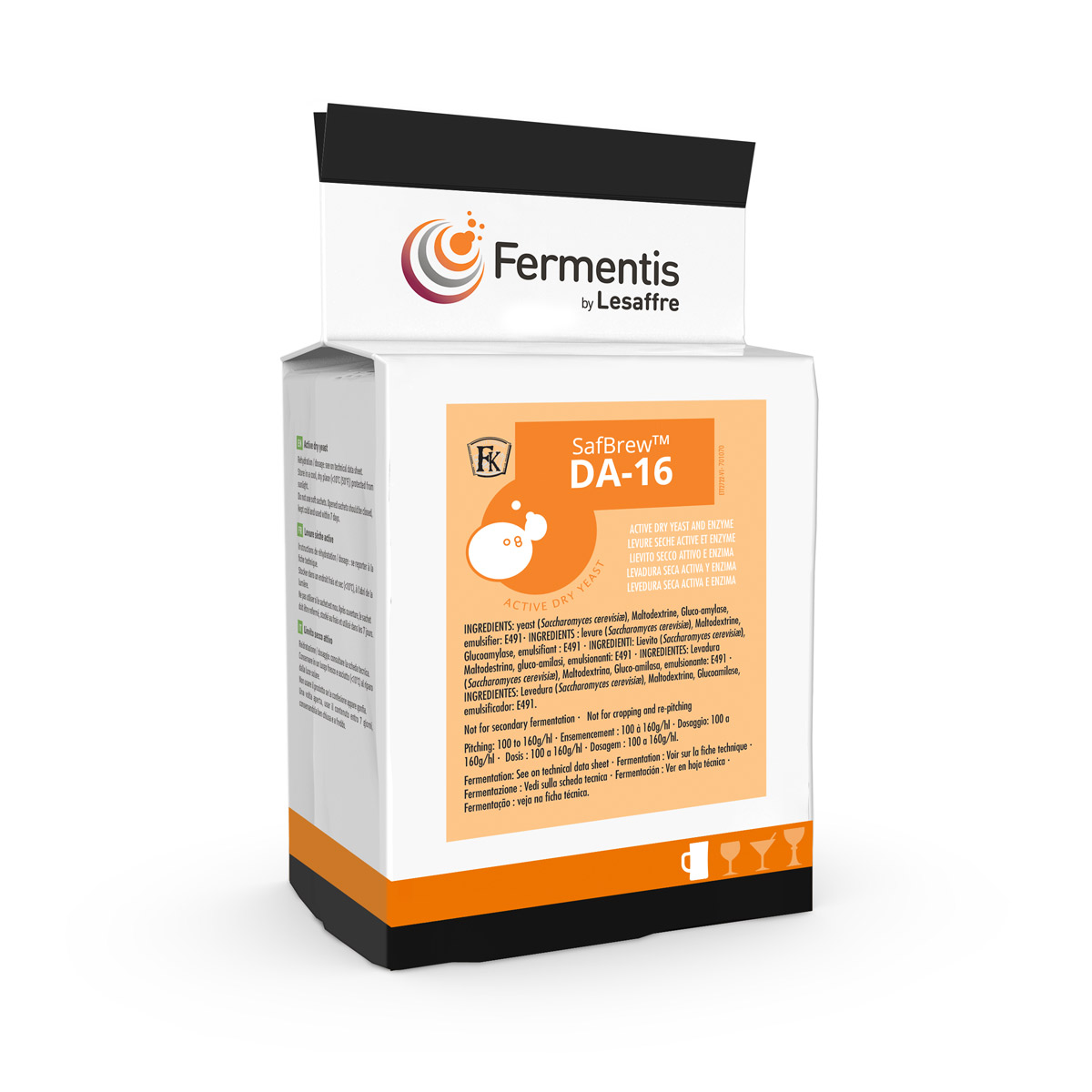 SafBrew DA 16 active dry yeast for brewers by Fermentis