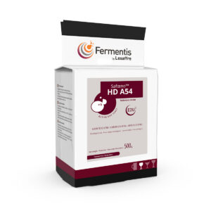 SafOeno HD A54 active dry wine yeast pack by fermentis