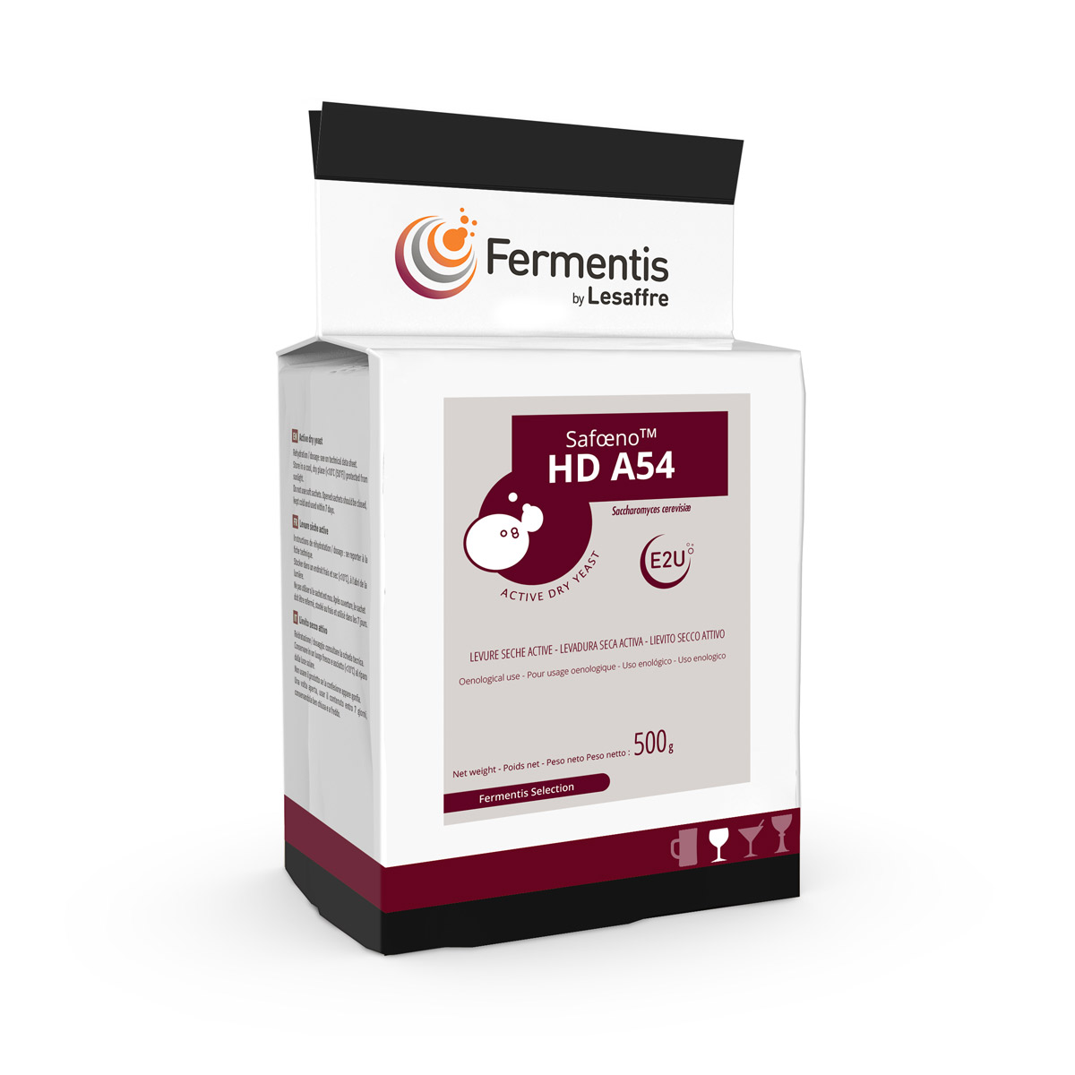 SafOeno HD A54 wine yeast pack by fermentis